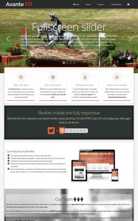 Avante Equestrian Website Template