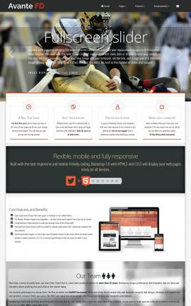 Avante Football Website Template
