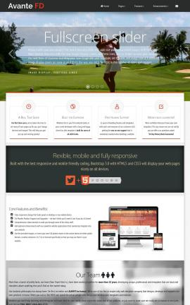 Avante Golf Website Template