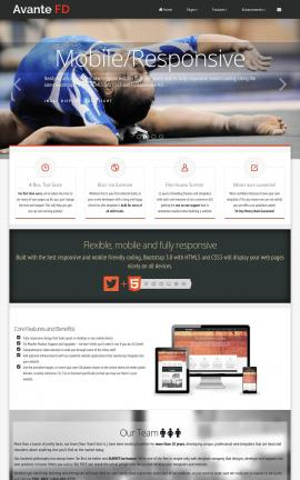 Avante Gymnastics Website Template