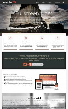 Avante Heavy-machines Dreamweaver Template
