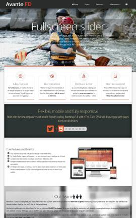 Avante Kayak Website Template