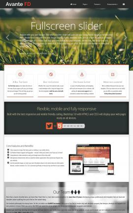 Avante Landscaping Website Template
