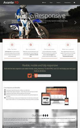 Avante Motocross Website Template
