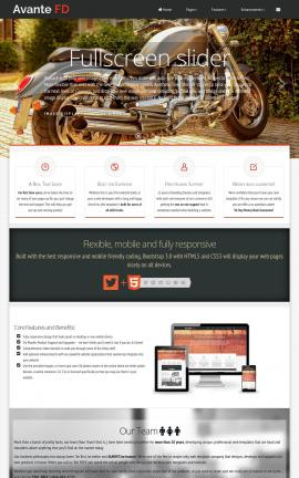 Avante Motorcycle Dreamweaver Template