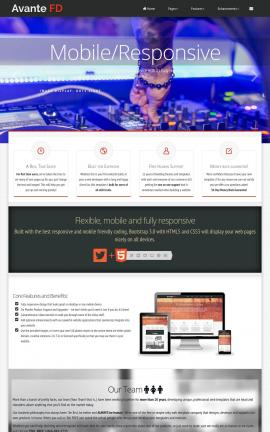 Avante Night-club Website Template