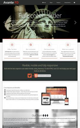 Avante Patriotic Website Template