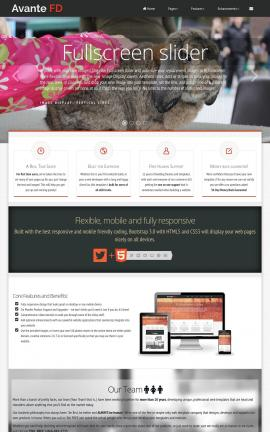 Avante Pet-store Website Template