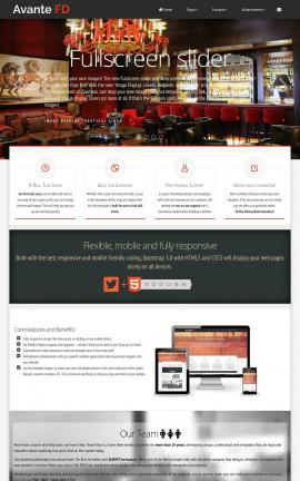 Avante Pub Website Template