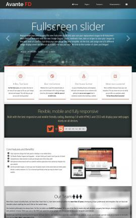 Avante Scuba-diving Website Template