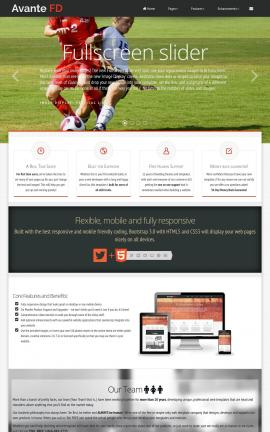 Avante Soccer Website Template