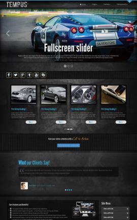 Tempus Automobile Website Template