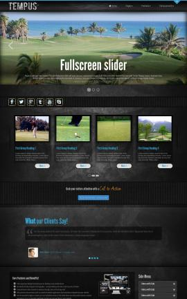 Tempus Golf Website Template