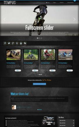 Tempus Motocross Dreamweaver Template