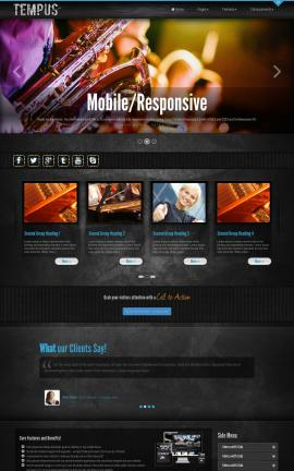 Tempus Music Website Template