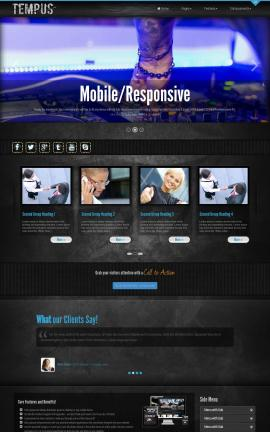 Tempus Night-club Website Template