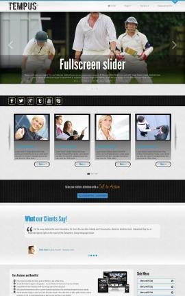 Tempus Cricket Website Template