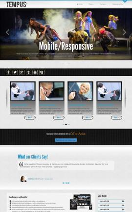 Tempus Dance Dreamweaver Template