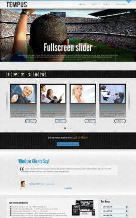 Tempus Football Website Template