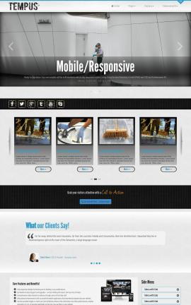Tempus Janitorial Website Template