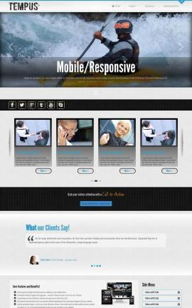 Tempus Kayak Website Template