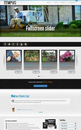 Tempus Landscaping Website Template
