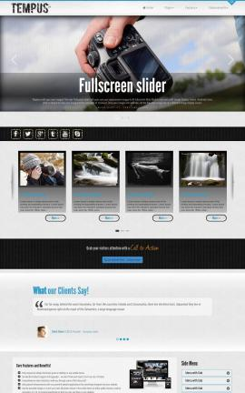 Tempus Photography Website Template