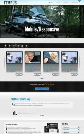 Tempus Snowmobile Website Template