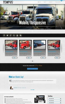 Tempus Trucking Website Template