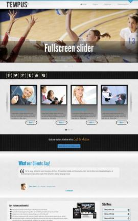 Tempus Volleyball Website Template