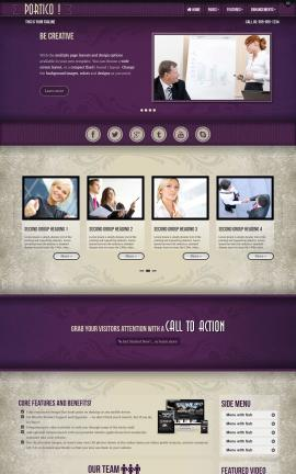 Portico Accounting Website Template