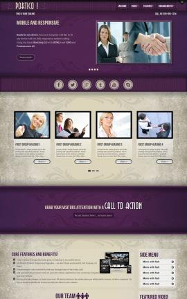 Portico Business Website Template