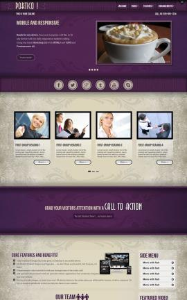 Portico Cafe Website Template