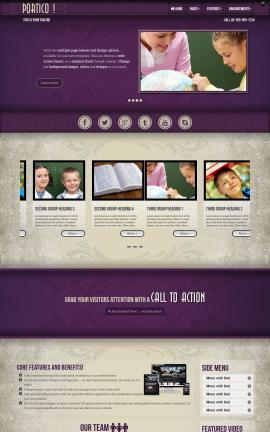 Portico Education Website Template