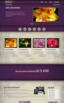 Portico Floral Website Template