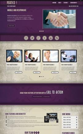 Portico Insurance Website Template
