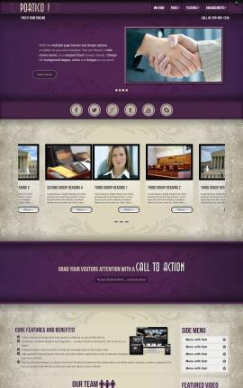 Portico Law Website Template