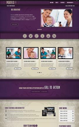 Portico Medical Website Template