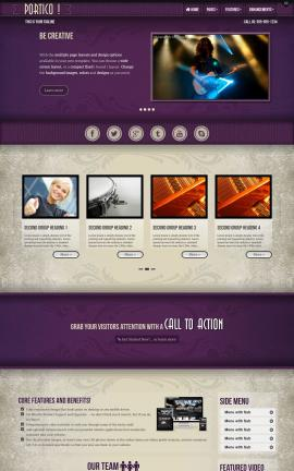 Portico Music Website Template