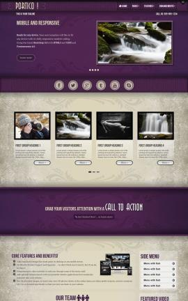 Portico Photography Website Template