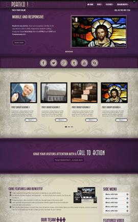 Portico Religion Website Template
