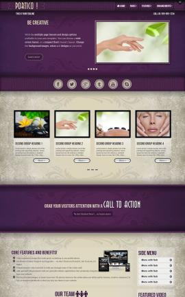 Portico Spa Website Template