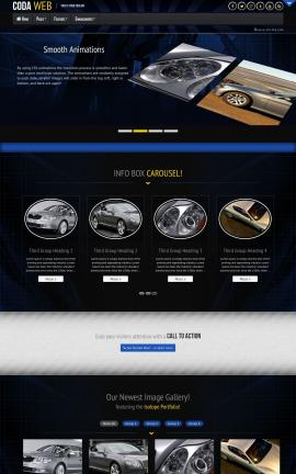 Coda Automobile Website Template