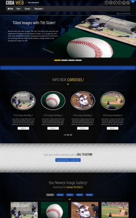 Coda Baseball Website Template
