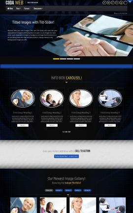 Coda Business Website Template