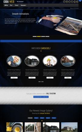 Coda Construction Website Template