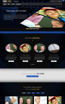 Coda Education Website Template