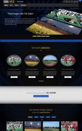 Coda Football Website Template