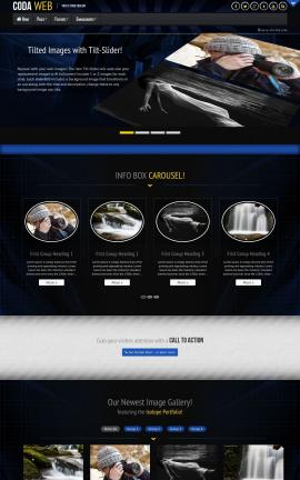Coda Photography Website Template