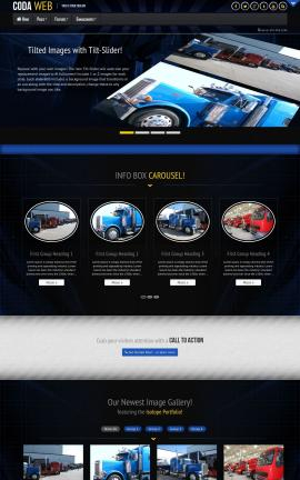 Coda Trucking Website Template